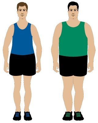 Rounded male body types