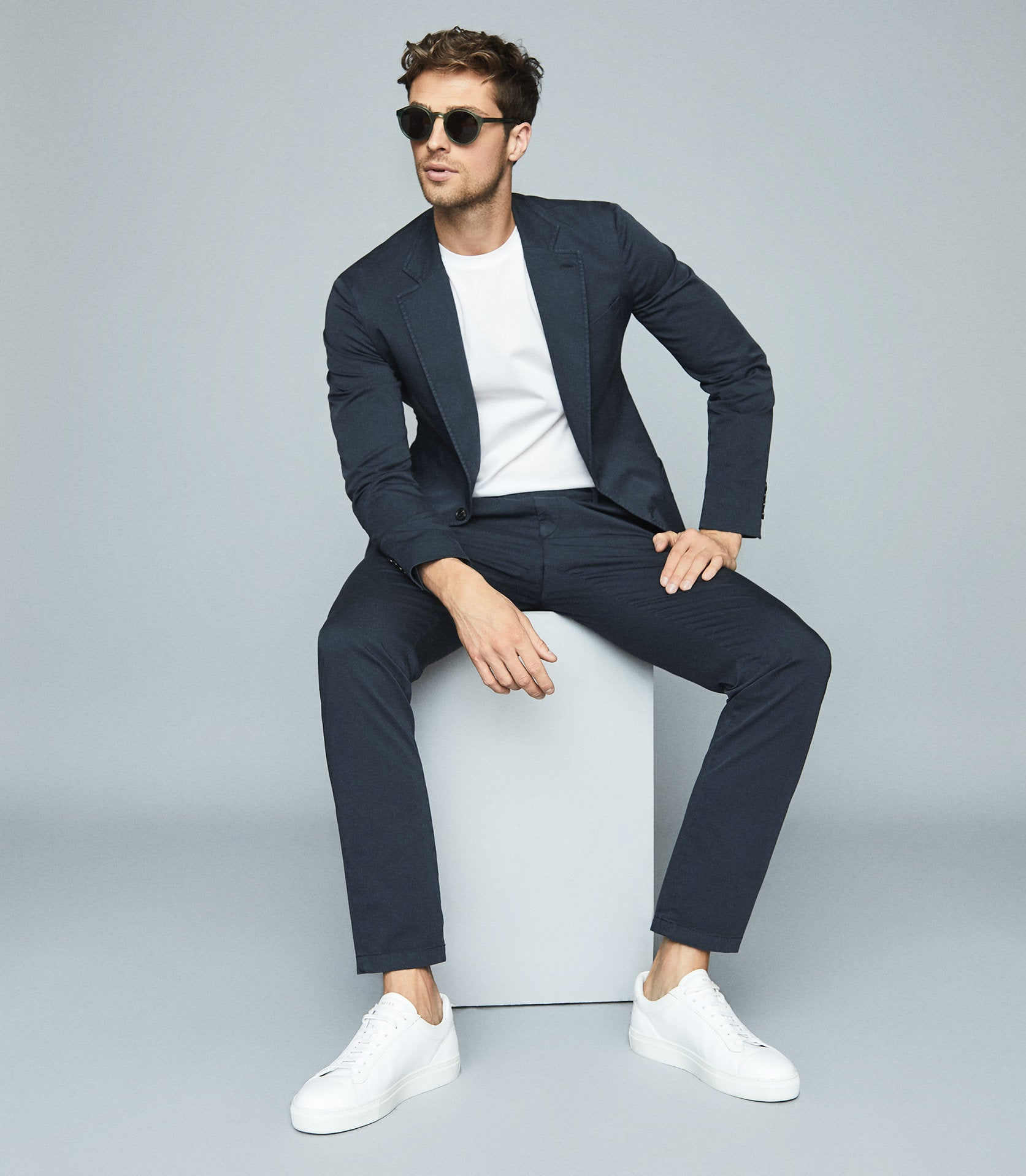 Color Combination For Men Navy Blue and White