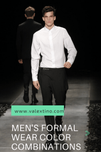 Formal wear color combinations for men