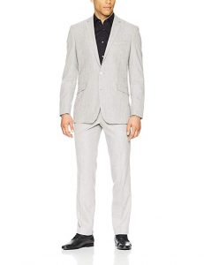 Light Grey Suit Men Wedding Suit