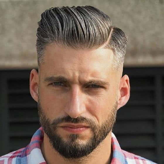 Slicked Back Hairstyle for Men with thin hair