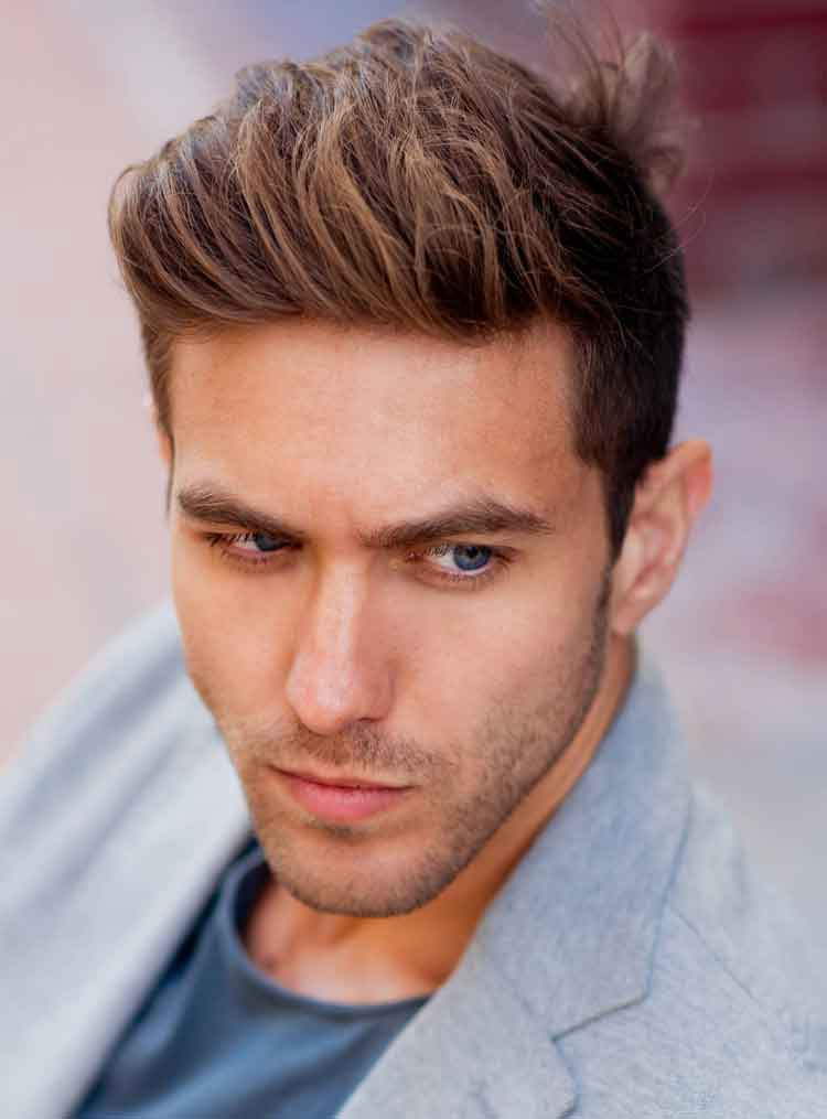 The Brush Back Hairstyle for men with fine hair