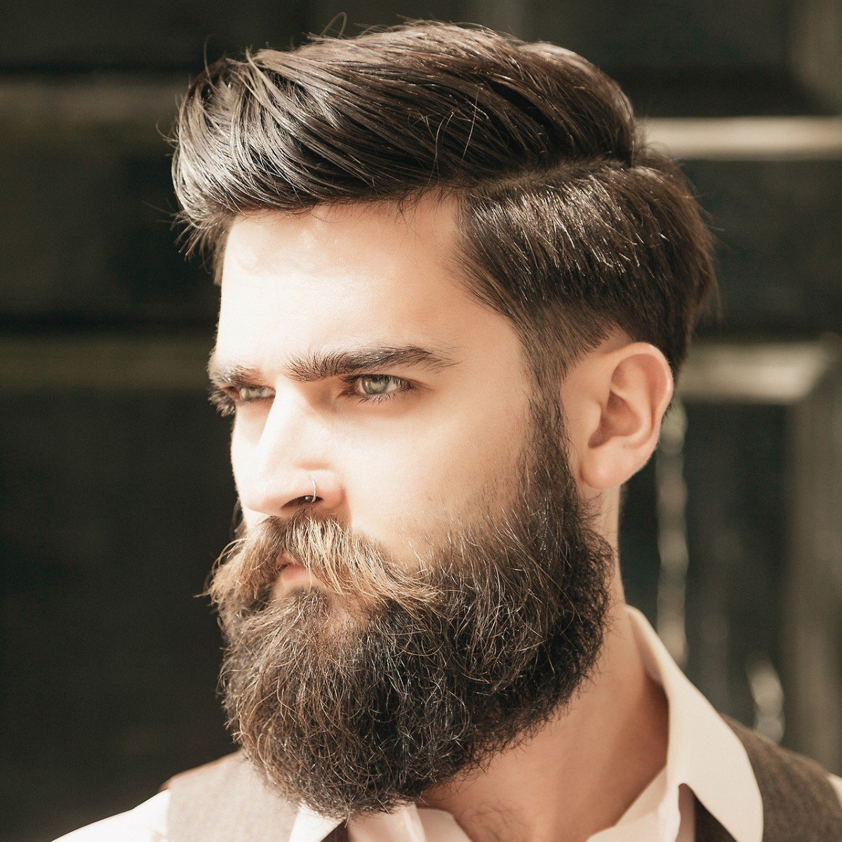The Comb OverHairstyle for men with thin hair