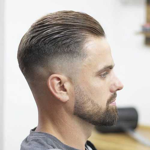 Slicked Back Short Hairstyle For Men