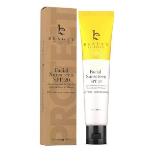 Beauty By Earth Mineral Face Sunscreen For Daily Use, Reef Safe & Biodegradable with SPF 20