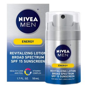 NIVEA Men Revitalizing Energy Lotion - Broad Spectrum With SPF 15
