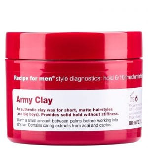 Recipe for Men Army Clay Wax